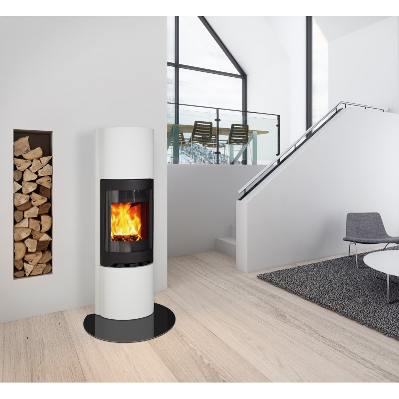 un po le moderne et personnalisable le jotul fs 91 en b ton blanc. Black Bedroom Furniture Sets. Home Design Ideas